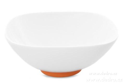 """DA69703-Porcelánová misa """"XL"""" 1400 ml, oranžová porcelán / silikon"""