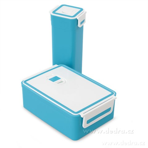 DA68802-SVAČINÁTORY sada 2ks vzduchotesných boxov na potraviny, modrý