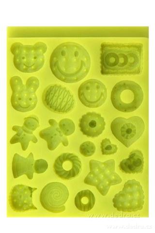 DA7077-Pružné formičky na čokoládu, želé a cukrársku hmotu, tvary cukrovinky a sušienok