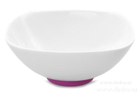 """DA69712-Porcelánová mísa""""XXL 2600 ml, fuchsiová porcelán/silikon"""