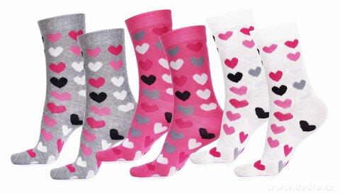 FC71654-Sada 3 párov vysokých ponožky REBELS veľkosť 38-42