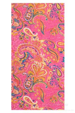 DA72669-Multifunkčná šatka ružový s motívom