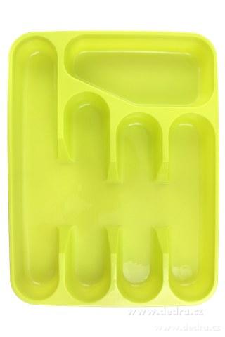 DA73961-PRÍBORNÍK z tvrdeného plastu žltozelený