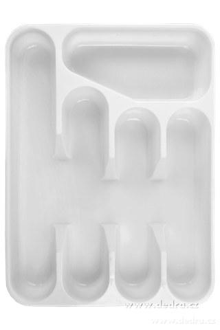 DA73962-PRÍBORNÍK z tvrdeného plastu biely