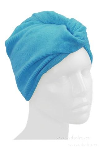 DA72542-2 ks turban na vysúšanie vlasov tyrkysový