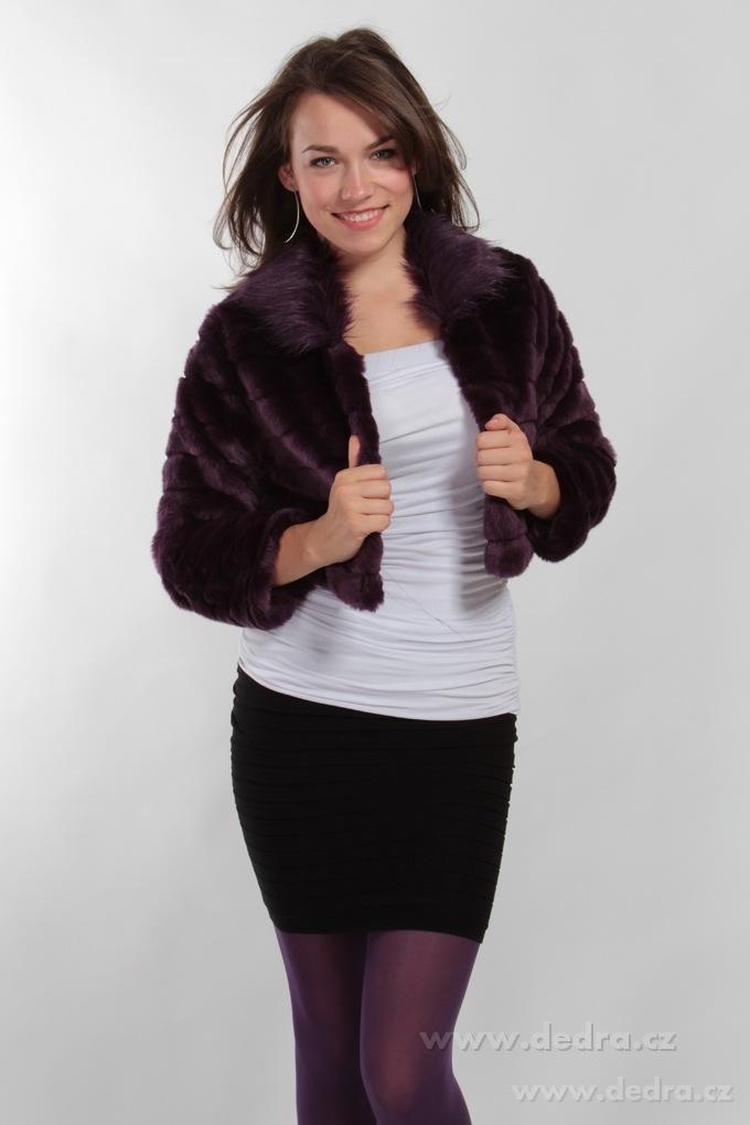 ac7731537d4 MOSELLE kabátek z umělé kožešiny fialový - Vaše DEDRA - oficiální stránky