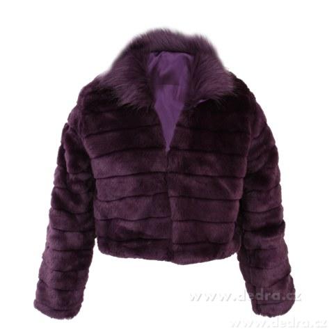 c303fbb111e MOSELLE kabátek z umělé kožešiny fialový - Vaše DEDRA - oficiální ...