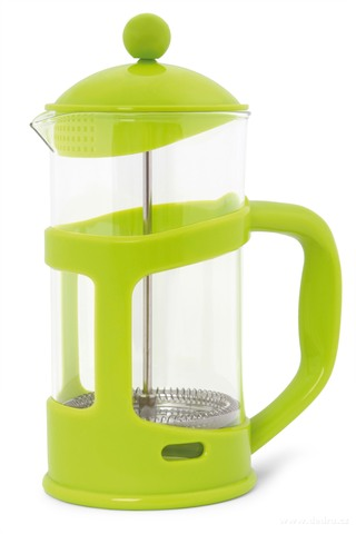 DA73691-XL FRENCH PRESS kanvica na čaj a kávu jasne zelená