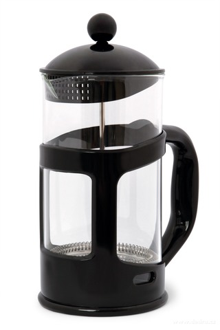 DA73695-XL FRENCH PRESS kanvica na čaj a kávu čierna