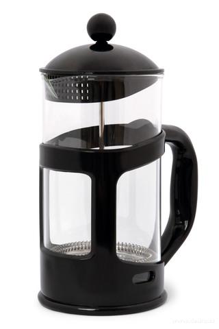 DA73695-XL FRENCH PRESS kanvica na čaj a kávu čierna