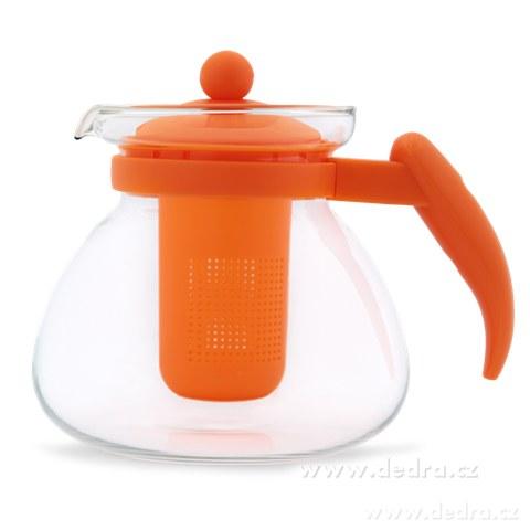 DA71813-Sklenená kanvica, oranžová, 1500 ml