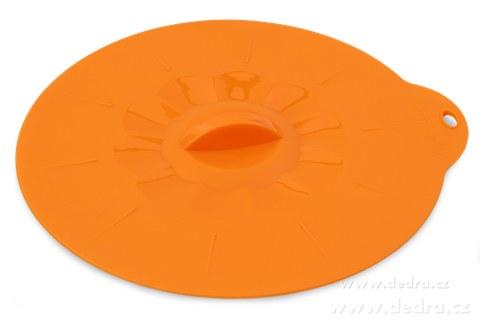 DA74983-FCUCPOKLICE 21 cm silikónová pokrievka oranžová