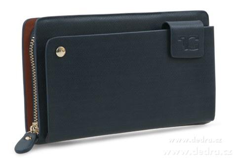 FC75331-2in 1 luxusná pánska peňaženka & puzdro Hlubinná čiernomodrá