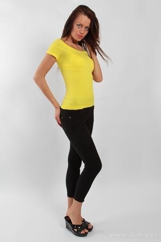 FC75935-YVETTE top s rukávmi, žltý