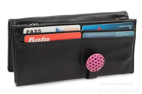 FC76621-Dámska peňaženka s aplikáciou motýľa čierna