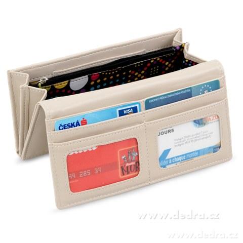 FC76624-Dámska peňaženka s aplikáciou motýľa prírodnou
