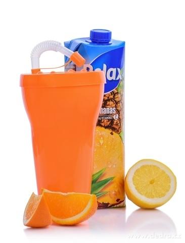 DA79744-XXL kelimero so slamkou 900 ml, oranžové