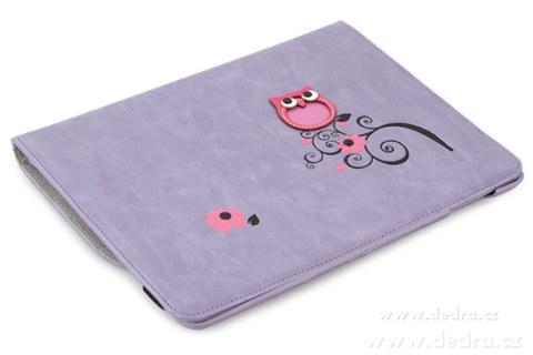 FC77271-Puzdro na iPad s aplikáciou sovy a kvetín, orgovánovej