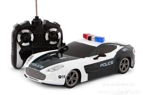 auto policyjne zdalnie sterowane niebiesko bia e. Black Bedroom Furniture Sets. Home Design Ideas