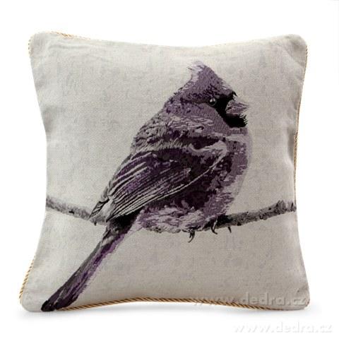 FC81212-Gobelíny poťah na vankúš obojstranný violet bird