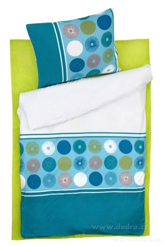 DA81204-BLUE Circles 2 dielna posteľná súprava pre 1 osobu
