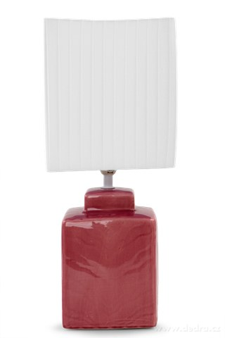 FC83513-CUBE stolná lampa 42 cm ružovofialová
