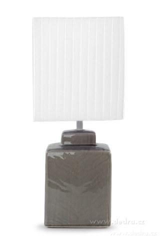 FC83514-CUBE stolná lampa 42 cm sivá