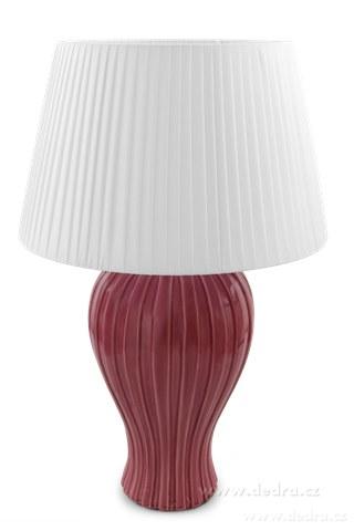 FC83523-BELL XXL stolná lampa ružovofialová výška 62 cm