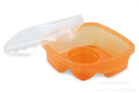 DA83552-Duobox 500ml + 100ml dóza na potraviny oranžový