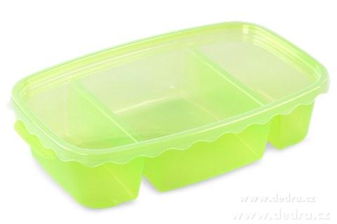 DA83601-Triobox zelený dóza na potraviny 800 + 300 + 300 ml