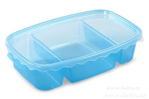 DA83602-Triobox modrý dóza na potraviny 800 + 300 + 300 ml