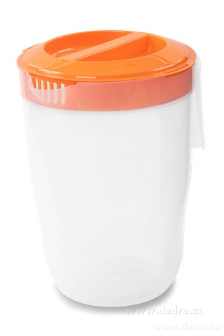 DA83653-Megadžbán 3500 ml džbán alebo odmerka s vekom oranžový