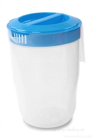 DA83654-Megadžbán 3500 ml džbán alebo odmerka s vekom modrý