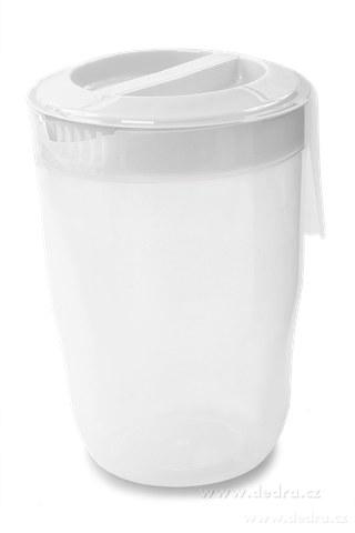 DA83655-Megadžbán 3500 ml džbán alebo odmerka s vekom biely