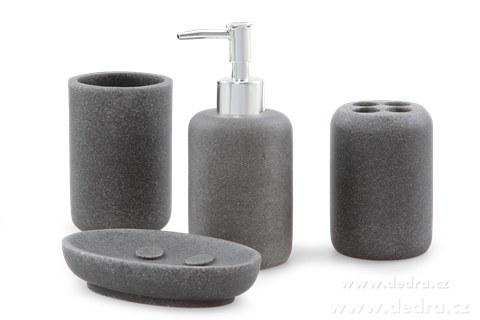FC8170-ROUND STONE kúpeľňa 4 dielna súprava antracitový kameň