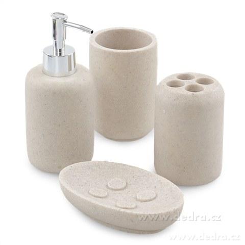 FC8171-ROUND STONE kúpeľňa 4 dielna súprava prírodný kameň