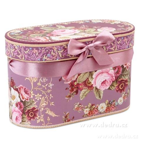 DA83871-2 ks porcelán.hrnek v darčekovom boxe ROMANTIC FLOWERS
