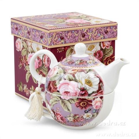 DA83881-Čaj pre jedného darčeková sada ROMANTIC FLOWERS