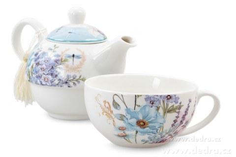 DA83883-Čaj pre jedného darčeková sada BLUE FLOWERS