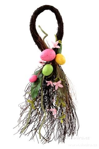 DA8457-XL dekorácie kvapka s jarnou tematikou prútia, kvety, vajíčka