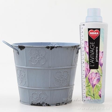 DA84791-Deko obal na kvetináč kovový s patinou pastelovo fialový