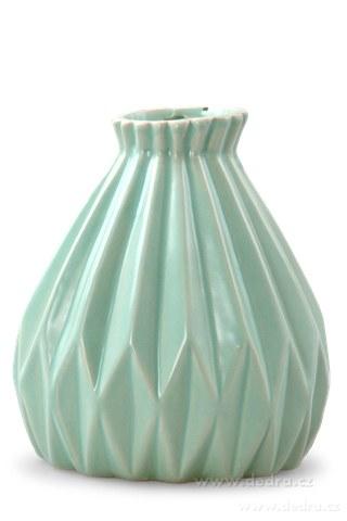DA10113-Dekoratívna váza keramická reliéfne mintovou
