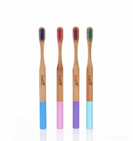 CP8511-4 KS SADA ZUBNÁ KEFKA GoEco® BAMBOO z vysokotlakového bambusu s veľmi mäkkými štetinkami