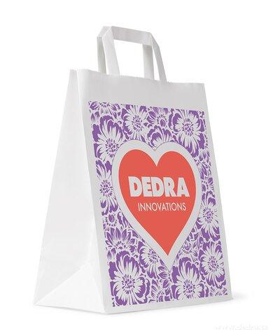 AA0811-1 ks jednorazová taška 32 x 42 x 14 cm papierová s logom DEDRA